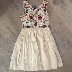 free people hungarian embroidery babydoll dress